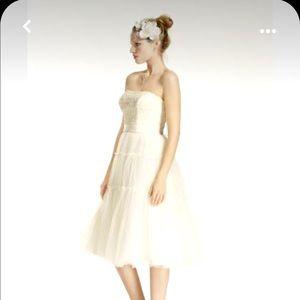 NWT Galina tulle and lace tea length wedding dress